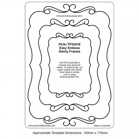 Template PCA cadre rectangle ouverture fantaisie
