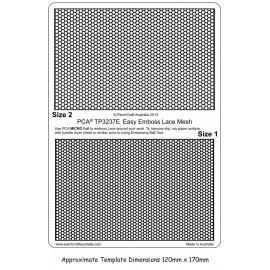Template PCA maille de dentelle taille 1 et 2