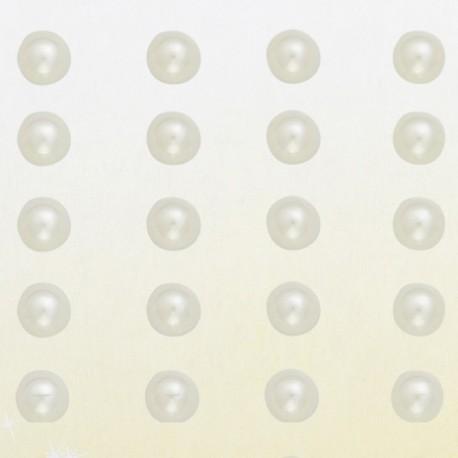 Stickers adhésifs demi perles ivoire
