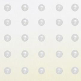 Stickers adhésifs demi perles blanches