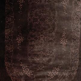 Papier fantaisie batik dentelle ovale marron