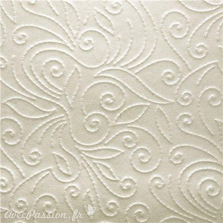 Papier gaufré arabesque blanc nacré 50x70cm 200g