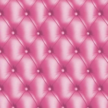 Feuilles décopatch capitonné rose