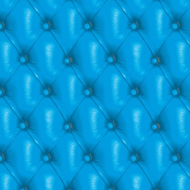 Feuilles décopatch capitonné bleu turquoise