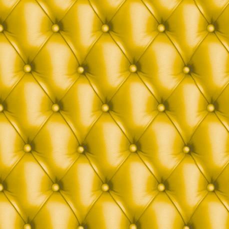 Feuilles décopatch capitonné jaune