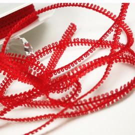 Ruban tissu rouge 8mm