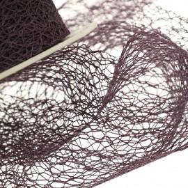 Ruban tissu violet 30mm crispy