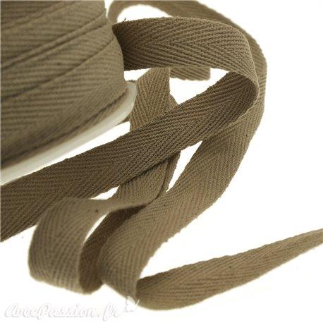 Ruban lacet sable marron 15mm