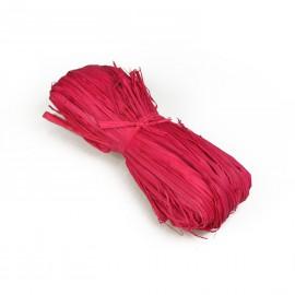 Raphia naturel rouge