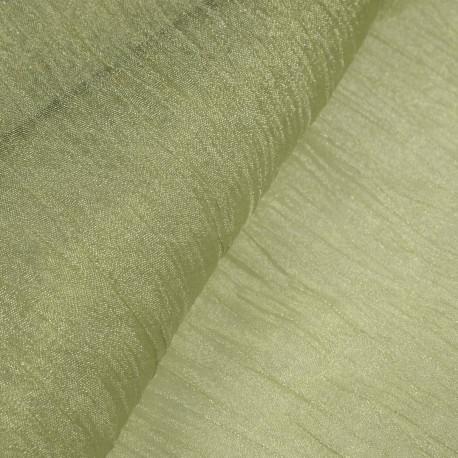 Tissu vert amande froissé mineral 38cmx2.5m