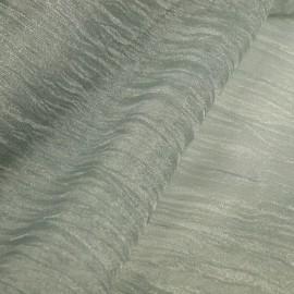 Tissu argent grisé froissé mineral 38cmx2.5m