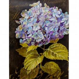 Carte d'art hortensia bleu