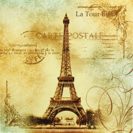 Carte d'art travel to paris 2
