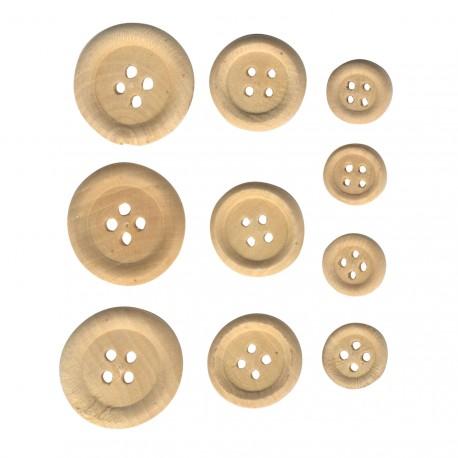bouton décoratif en bois naturel