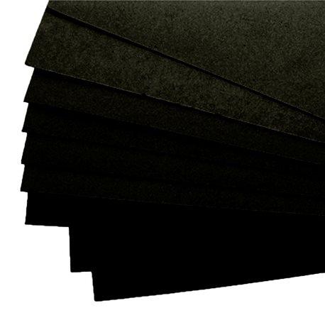 Carton mousse carton plume noir 5mm 50x65