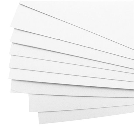 Carton mousse carton plume blanc 3.5mm 50x65