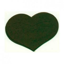 Découpe laser Karen Marie clip die cut coeur vert foncé
