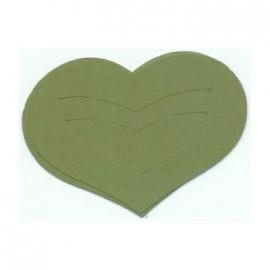 Découpe laser Karen Marie clip die cut coeur vert clair