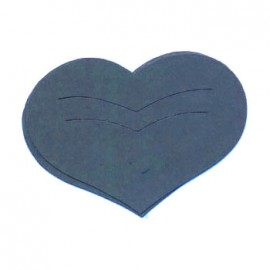 Découpe laser Karen Marie clip die cut coeur bleu