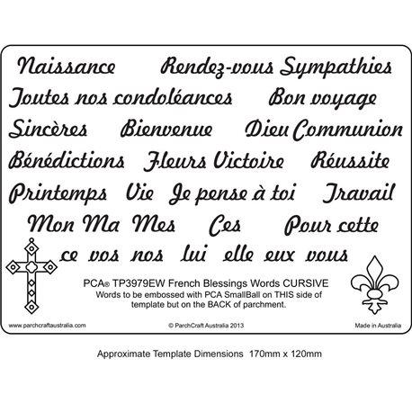 Template parchemin écriture en  français