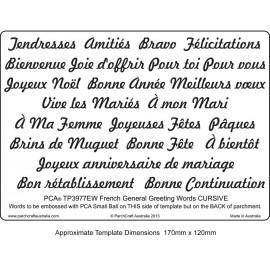 Template parchemin écriture en  français congratulations