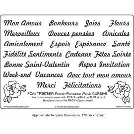 Template parchemin écriture en  français romantique