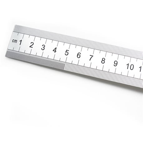 Réglet métallique acier inoxydable 30cm