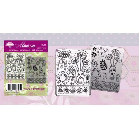 Pergamano kit de réalisations de cartes fleurs d'été 71011