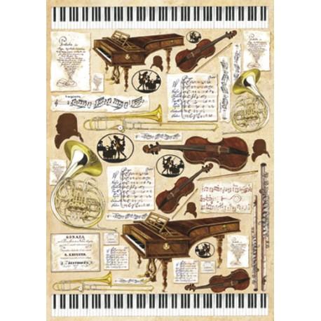 Papier de découpage Musique 50x70cm
