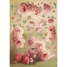 Papier de découpage Fleurs art roses 50x70cm