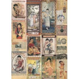 Papier de découpage Cartes-lettre Cine vintage 50x70cm