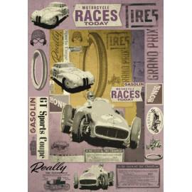 Papier de découpage Graffitis voiture de corse d'époque 50x70cm