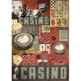 Papier de découpage Graffitis Casino 50x70cm