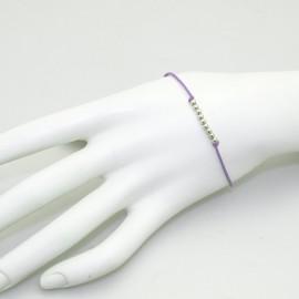 Bracelet fantaisie Enomis lien violet argent 925/1000