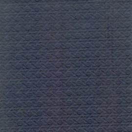 Papier fantaisie cannage gaufré bleu nuit