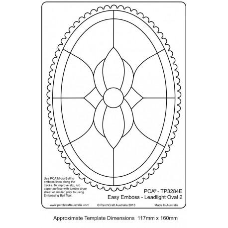 Template parchemin oval dentelé vitrail numéro 2