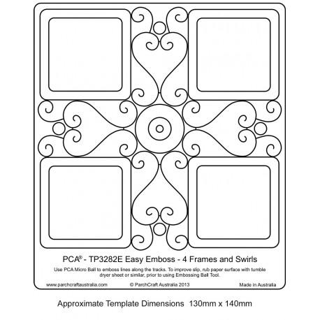 Template parchemin 4 cadres et courbes en forme de coeur