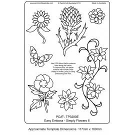 Template parchemin fleur simple 6 modèles et un papillon