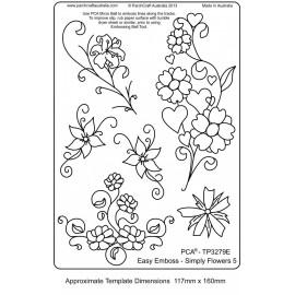 Template parchemin fleur simple 6 modèles
