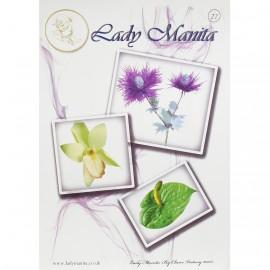 Dentelle de papier modèle de Lady Manita pattern 22