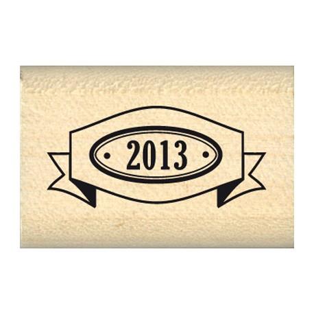 Tampon bois journaling année 2013