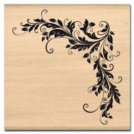 Tampon bois ararbesque angle décoratif