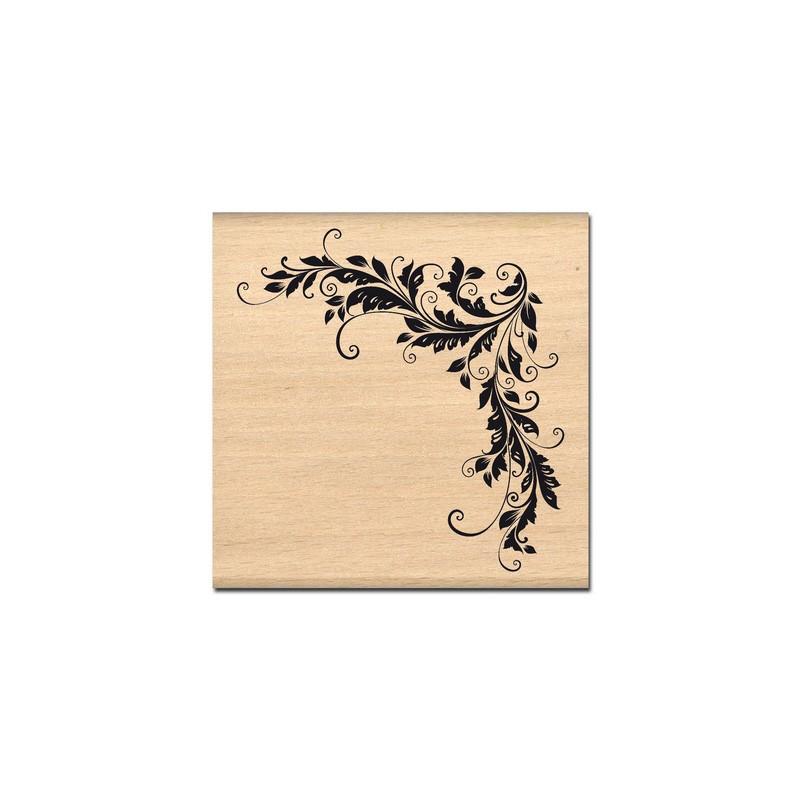 tampon bois ararbesque angle d coratif cartes
