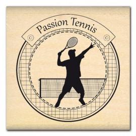 Tampon bois sport passion tennis