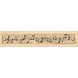 Tampon bois musique ruban musical