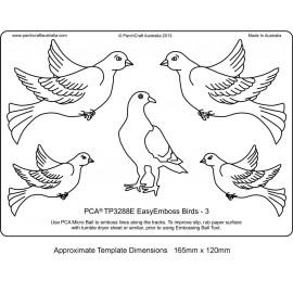 Template parchemin oiseau modèle 3