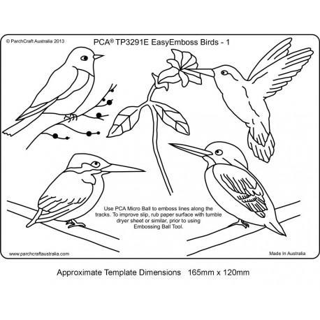 Template parchemin oiseau modèle 1
