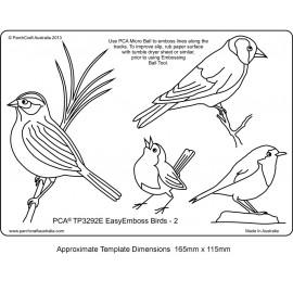Template parchemin oiseaux modèle 2
