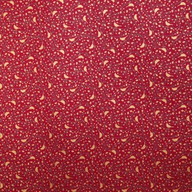 Papier fantaisie cherry rouge motifs or