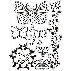 Pergamano grille tampon set de réalisations 15 papillons 71015